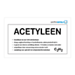 Aanduidingsbord Acetyleen