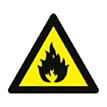 Sticker Brandbare Stoffen Aanwezig