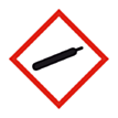 Sticker gassen onder druk (GHS)