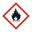 Sticker ontvlambare stoffen (GHS)