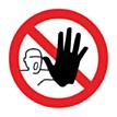 Sticker Verboden Toegang voor Onbevoegden