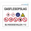 Waarschuwingsbord Gasflesopslag